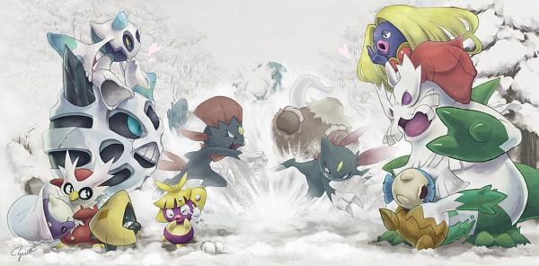 Tags: Anime, Yorujisa Yuuto, Pokémon, Snover, Froslass, Glalie, Spheal, Weavile, Sneasel, Abomasnow, Delibird, Smoochum, Jynx