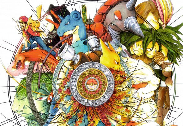 Tags: Anime, Broccoli Arupuru, Pokémon, Venusaur, Eevee, Snorlax, Charizard, Machamp, Pikachu, Pidgeot, Green (Pokémon), Exeggutor, Arcanine