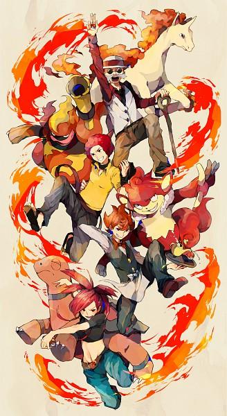 Tags: Anime, Yuuichi Bobobo, Pokémon, Torkoal, Asuna (Pokémon), Rapidash, Magmortar, Ooba (Pokémon), Katsura (Pokémon), Pod (Pokémon), Fanart, Pixiv, Mobile Wallpaper