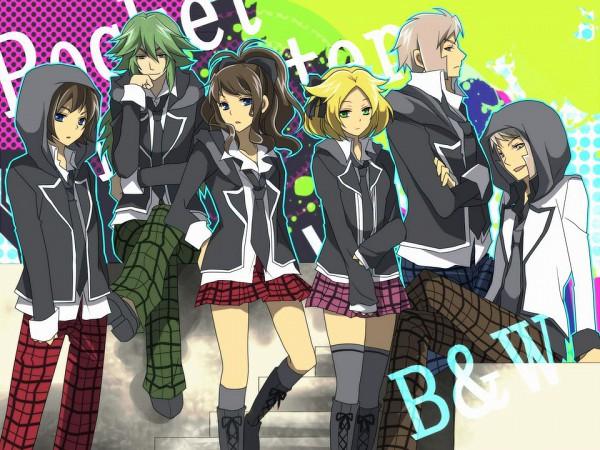 Tags: Anime, Aya (Pixiv263198), Pokémon, Kudari, Touya (Pokémon), Bel (Pokémon), N (Pokémon), Nobori, Touko (Pokémon), Pixiv, Fanart, PNG Conversion