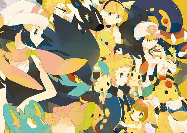 Tags: Anime, Hagiko (Artist), Pokémon, Eelektross, Raichu, Plusle, Denji (Pokémon), Matis, Ampharos, Blitzle, Tessen, Mareep, Joltik