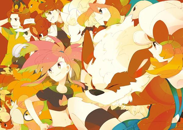 Tags: Anime, Hagiko (Artist), Pokémon, Katsura (Pokémon), Tyranitar, Numel, Pansear, Charizard, Camerupt, Flareon, Pod (Pokémon), Ooba (Pokémon), Asuna (Pokémon)