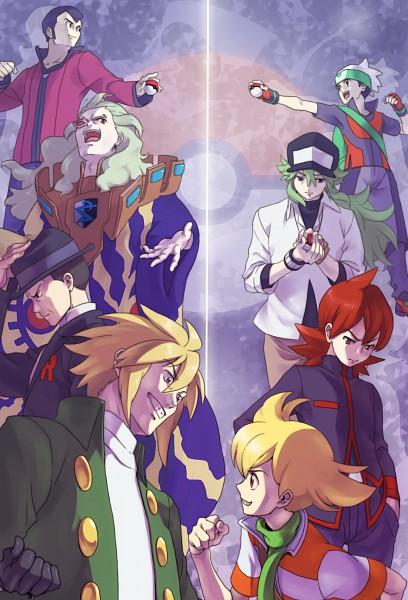 Tags: Anime, Pokémon, G-Cis Harmonia, Silver (Pokémon), N (Pokémon), Sakaki (Pokémon), Yuuki (Pokémon), Senri (Pokémon), Kurotsugu (Pokémon), Jun (Pokémon), Son, Mobile Wallpaper