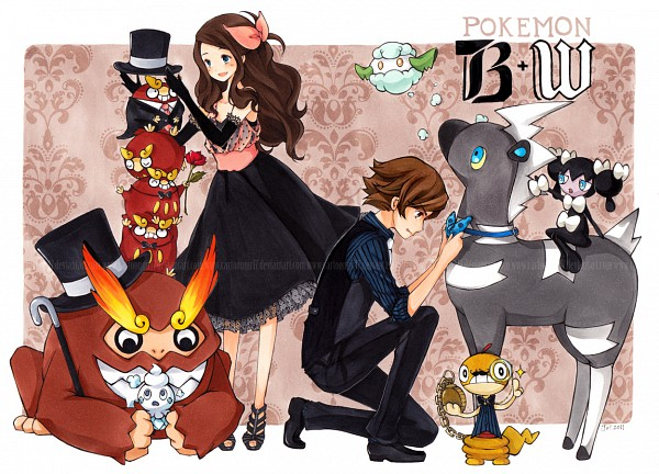 Tags: Anime, Pokémon, Cottonee, Touko (Pokémon), Touya (Pokémon), Gothorita, Darumaka, Scraggy, Darmanitan, Vanillite, Blitzle, Pocket Watch, deviantART