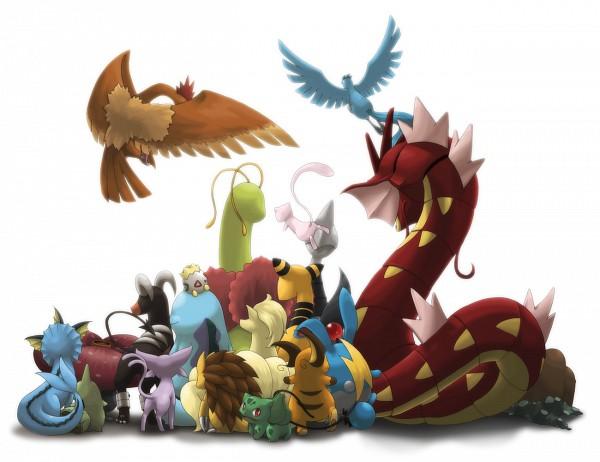 Tags: Anime, Ditb, Pokémon, Mew, Houndoom, Togepi, Raichu, Quagsire, Ampharos, Vileplume, Bulbasaur, Sandslash, Azumarill