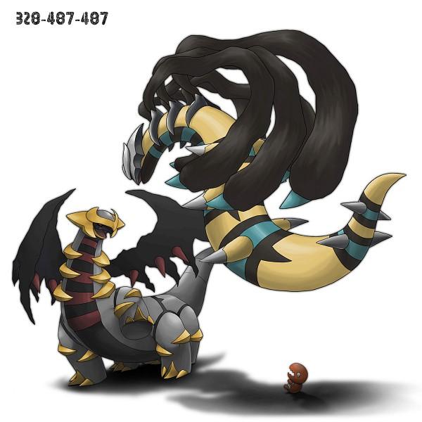 Tags: Anime, Ditb, Pokémon, Giratina, Trapinch, Shiny Pokémon, Pixiv, Fanart, Legendary Pokémon