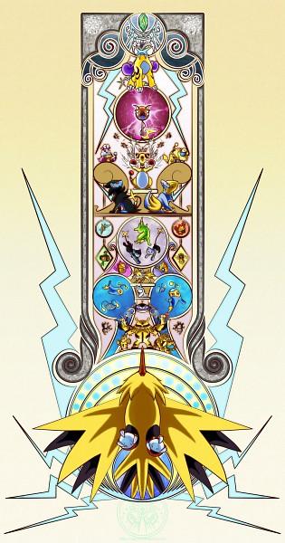 Tags: Anime, Sinn-ryu, Pokémon, Elekid, Voltorb, Luxray, Raikou, Manectric, Raichu, Rotom, Magneton, Shinx, Luxio