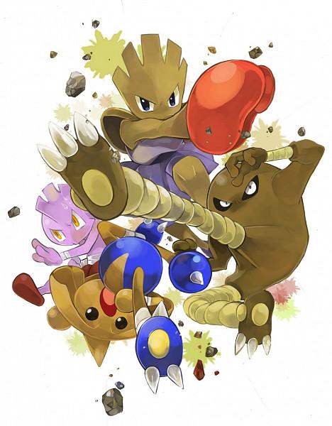 Tags: Anime, Mikami, Pokémon, Tyrogue, Hitmontop, Hitmonlee, Hitmonchan