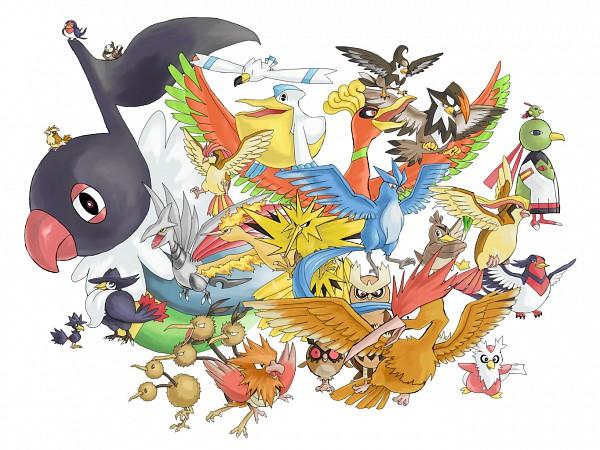 Tags: Anime, Yorochi, Pokémon, Farfetch'd, Ho-oh, Natu, Fearow, Doduo, Xatu, Dodrio, Moltres, Hoothoot, Staraptor