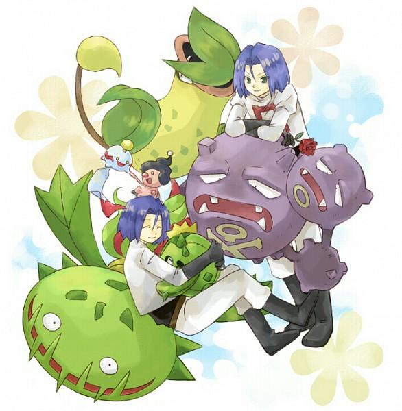 Tags: Anime, Usao (313131), Pokémon, Weezing, Chimecho, Kojirou (Pokémon), Victreebel, Carnivine, Mime Jr., Cacnea, Asterisk, Pixiv, Fanart