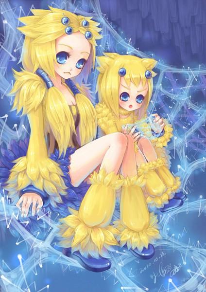 Tags: Anime, Sanmi Tenten, Pokémon, Joltik, Galvantula, Cat's Cradle, Fanart, Mobile Wallpaper, Pixiv