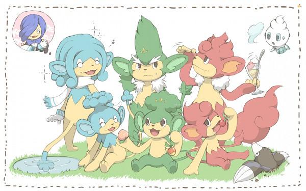 Tags: Anime, Pansear, Simisear, Panpour, Drilbur, Corn (Pokémon), Vanillite, Pansage, Simipour, Simisage, Monkey, Wallpaper