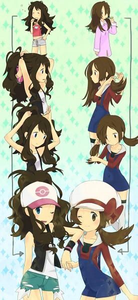 Tags: Anime, Suzumiyu, Pokémon, Touko (Pokémon), Kotone (Pokémon), Hair Brushing, Toothbrushing