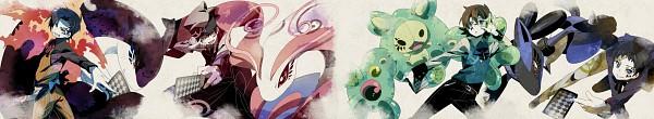 Tags: Anime, Chima Tsuitta, Pokémon, VOCALOID, Milotic, Touya (Pokémon), Lucario, Yuuki (Pokémon), Kouki (Pokémon), Reuniclus, Hibiki (Pokémon), Poker Face