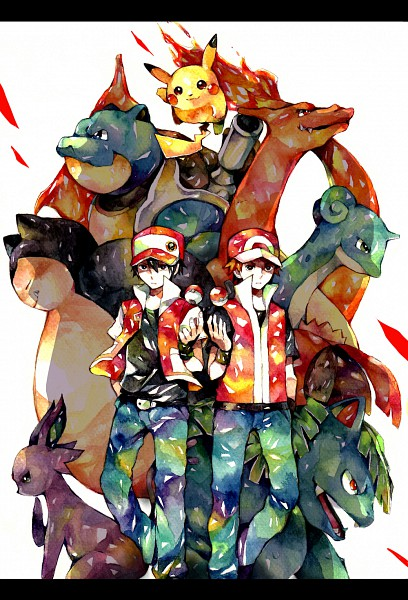 Tags: Anime, Yuuichi Bobobo, Pokémon, Charizard, Fire (Pokémon), Red (Pokémon), Snorlax, Lapras, Blastoise, Espeon, Venusaur, Pikachu, Mobile Wallpaper