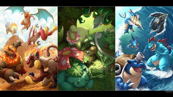 Tags: Anime, Quirkilicious, Pokémon, Meganium, Samurott, Empoleon, Feraligatr, Serperior, Blaziken, Venusaur, Infernape, Blastoise, Charizard