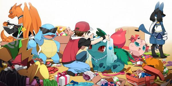Tags: Anime, Agemono, Pokémon, Pikachu, Bulbasaur, Fire (Pokémon), Red (Pokémon), Ivysaur, Jigglypuff, Lucario, Squirtle, Charizard, Miki Sayaka (Cosplay)