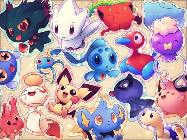 Tags: Anime, Pokémon, Togetic, Ditto, Chinchou, Phione, Misdreavus, Drifloon, Pichu, Surskit, Chimecho, Corsola, Shuppet