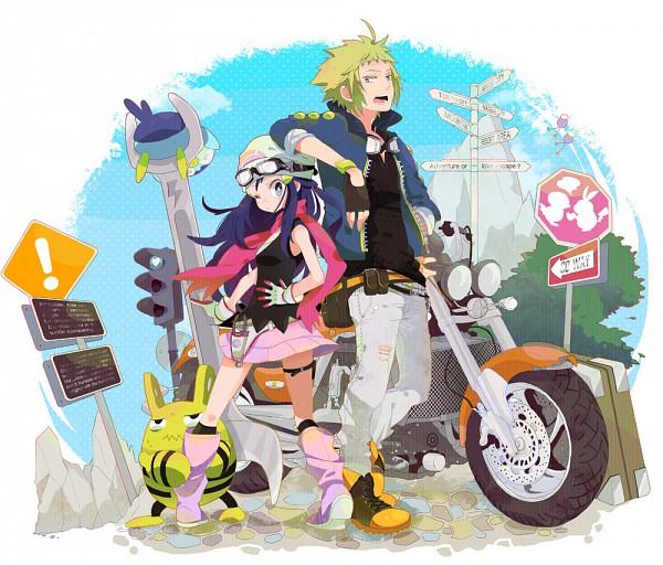Tags: Anime, Pomeko, Pokémon, Elekid, Denji (Pokémon), Piplup, Hikari (Pokémon), Pixiv
