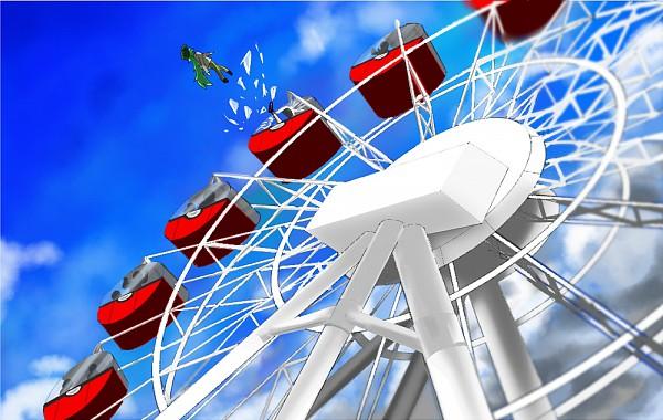 Tags: Anime, Pokémon, Touko (Pokémon), N (Pokémon), Ferris Wheel, Nimbasa