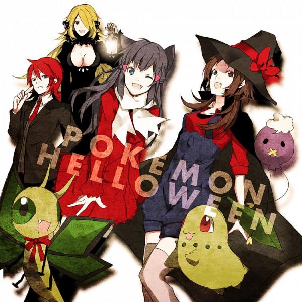 Tags: Anime, Arisaka Aco, Pokémon, Vibrava, Shirona (Pokémon), Drifloon, Hikari (Pokémon), Silver (Pokémon), Kotone (Pokémon), Chikorita