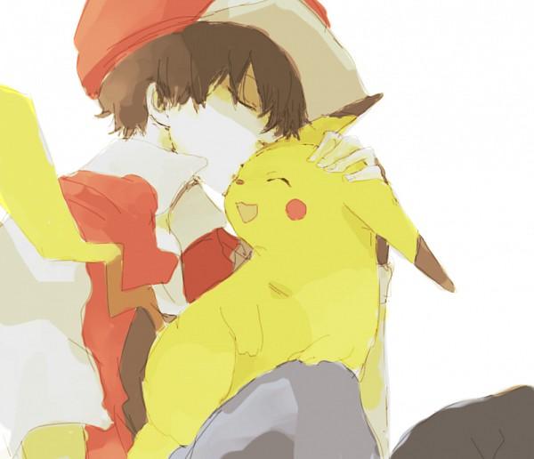 Tags: Anime, Tsuda, Pokémon, Red (Pokémon), Pikachu, Pixiv, Fanart From Pixiv, Fanart