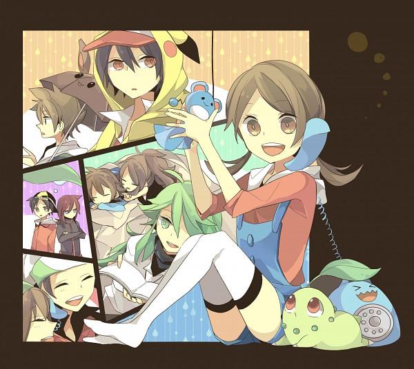 Tags: Anime, Pixiv Id 1336349, Pokémon, Marill, Kotone (Pokémon), Pikachu, Yuuki (Pokémon), Hibiki (Pokémon), Touya (Pokémon), Green (Pokémon), Chikorita, N (Pokémon), Red (Pokémon)
