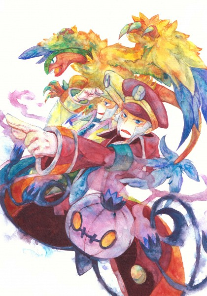 Tags: Anime, Gline, Pokémon, Kudari, Archeops, Chandelure, Nobori