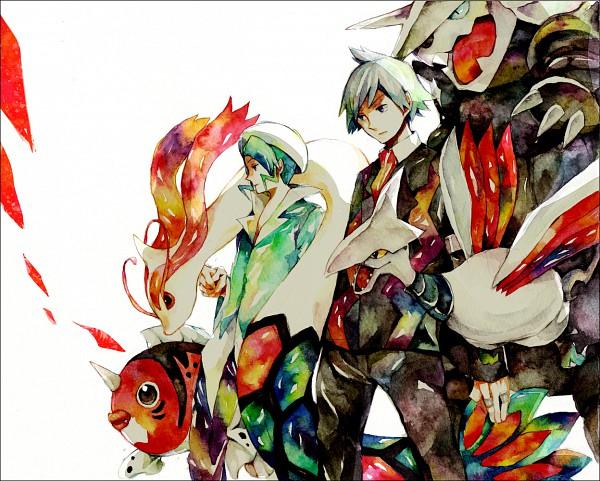 Tags: Anime, Yuuichi Bobobo, Nintendo, GAME FREAK, Pokémon, Skarmory, Milotic, Aggron, Tsuwabuki Daigo, Seaking, Mikuri (Pokémon)