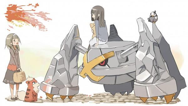 Tags: Anime, Pokémon, Growlithe, Metagross, Starly, Facebook Cover, Shiny Pokémon
