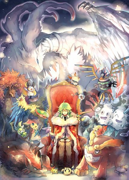 Tags: Anime, Zesilo, Pokémon, Sawsbuck, Reshiram, Audino, Sigilyph, Victini, Larvesta, Krookodile, Zoroark, Petilil, Darmanitan