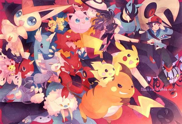 Tags: Anime, T0mare, Pokémon, Donphan, Chandelure, Touya (Pokémon), Lunatone, Mantine, Seaking, Lucario, Cherrim, Pikachu, Zekrom