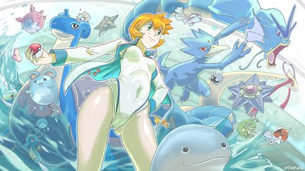 Tags: Anime, Pokémon, Politoed, Seaking, Horsea, Staryu, Lanturn, Golduck, Lapras, Marill, Quagsire, Kasumi (Pokémon), Starmie