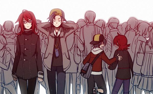 Tags: Anime, Verus, Pokémon Gold & Silver, Pokémon, Silver (Pokémon), Hibiki (Pokémon), Walking Past Each Other, Pixiv, Fanart, Fanart From Pixiv, HibiSil