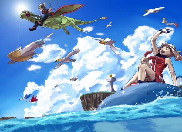 Tags: Anime, Kio., Pokémon, Haruka (Pokémon), Pelipper, Latias, Minun, Yuuki (Pokémon), Plusle, Chimecho, Wailmer, Wingull, Flygon