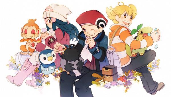 Tags: Anime, 21grams, Pokémon, Kouki (Pokémon), Piplup, Chimchar, Hikari (Pokémon), Turtwig, Jun (Pokémon), Starly, Facebook Cover
