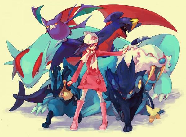 Tags: Anime, Pixiv Id 372453, Pokémon, Crobat, Lucario, Walrein, Luxray, Garchomp, Hikari (Pokémon), Salamence, Fanart