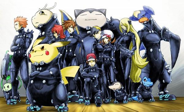Tags: Anime, Pokémon, Pikachu, Green (Pokémon), Hibiki (Pokémon), Red (Pokémon), Cyndaquil, Totodile, Chikorita, Snorlax, Silver (Pokémon), Shirona (Pokémon), Dragonite