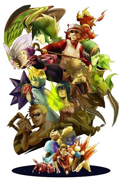 Tags: Anime, Pokémon, Jumpluff, Alakazam, Kasumi (Pokémon), Natsume (Pokémon), Ariados, Typhlosion, Kabutops, Magmar, Takeshi (Pokémon), Pidgeot, Anzu (Pokémon)