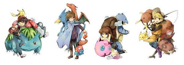 Tags: Anime, Tachiuo, Pokémon SPECIAL, Pokémon, Venusaur, Meta-chan, Jigglypuff, Dodrio, Charizard, Poliwrath, Ditto, Green (Pokémon), Raticate