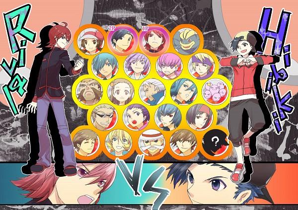 Tags: Anime, Kuronomine, Takeshi (Pokémon), Red (Pokémon), Silver (Pokémon), Natsume (Pokémon), Yanagi (Pokémon), Machamp, Kotone (Pokémon), Tsukushi (Pokémon), Mikan (Pokémon), Exeggcute, Hibiki (Pokémon)