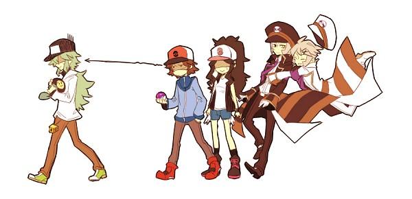Tags: Anime, Pokémon, Nobori, Kudari, N (Pokémon), Touya (Pokémon), Touko (Pokémon), Tympole, Pixiv, Facebook Cover