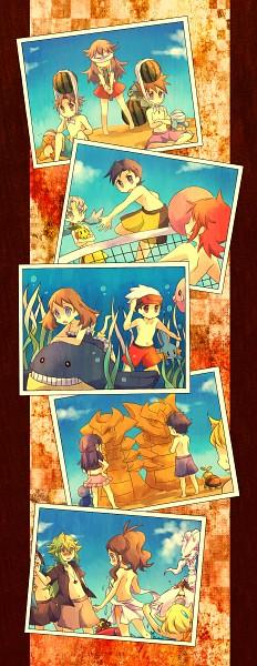 Tags: Anime, Kabocha Torute, Pokémon, Red (Pokémon), Reshiram, Mudkip, Kouki (Pokémon), Red (Pokémon FireRed and LeafGreen), Hikari (Pokémon), Silver (Pokémon), Touko (Pokémon), Squirtle, Green (Pokémon)
