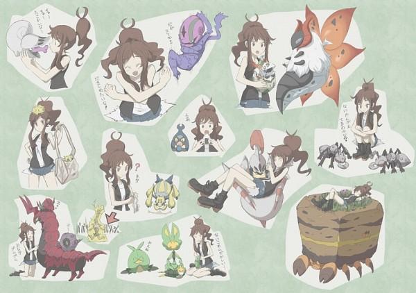 Tags: Anime, Pokémon, Scolipede, Larvesta, Durant, Whirlipede, Joltik, Crustle, Venipede, Accelgor, Swadloon, Shelmet, Touko (Pokémon)