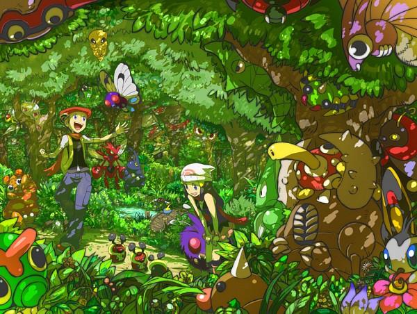 Tags: Anime, Pokémon, Kouki (Pokémon), Venomoth, Volbeat, Hikari (Pokémon), Masquerain, Pinsir, Butterfree, Scizor, Surskit, Caterpie, Parasect