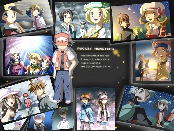 Tags: Anime, Pokémon Colosseum, Pokémon, Silver (Pokémon), Touko (Pokémon), Satoshi (Pokémon), Green (Pokémon), Kotone (Pokémon), Drifloon, Leaf (Pokémon), Wes, Hibiki (Pokémon), Yuuki (Pokémon)