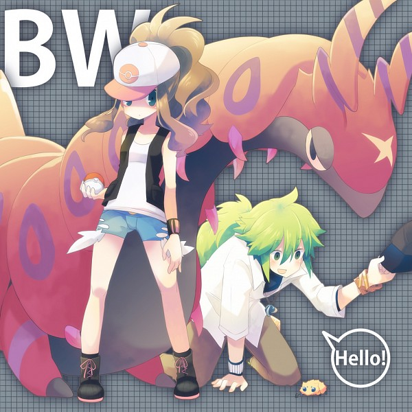 Tags: Anime, Yuzuki Gao, Pokémon, Touko (Pokémon), Scolipede, Joltik, N (Pokémon), NTouko