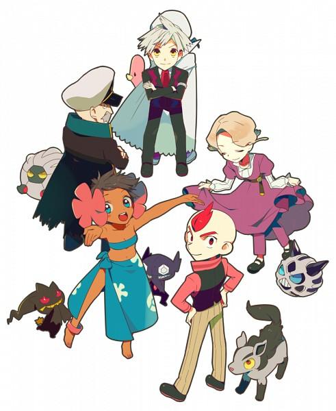 Tags: Anime, Pixiv Id 166986, Pokémon, Glalie, Banette, Genji (Pokémon), Sableye, Luvdisc, Fuyou (Pokémon), Tsuwabuki Daigo, Kagetsu (Pokémon), Mikuri (Pokémon), Shelgon