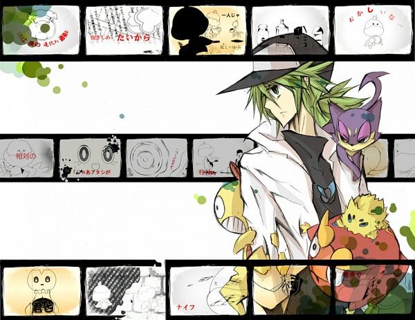 Tags: Anime, Pixiv Id 1605530, Pokémon, Darumaka, Purrloin, Scrafty, Darmanitan, Jellicent, N (Pokémon), Pixiv, DECO*27, Nisoku Hokou