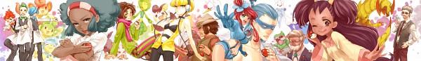 Tags: Anime, kumamimi (Pixiv364467), Pokémon, Pansage, Swanna, Leavanny, Emolga, Shaga, Dento (Pokémon), Pansear, Excadrill, Pod (Pokémon), Kamitsure
